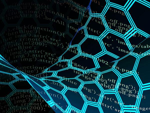 プログラムコードとハニカム構造