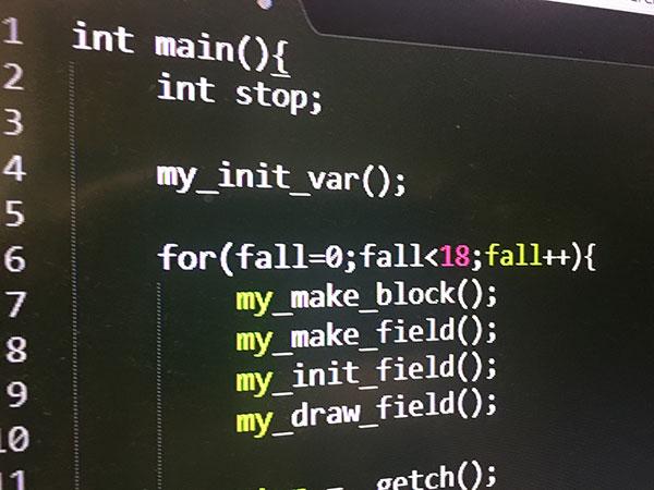 C言語プログラミングコード