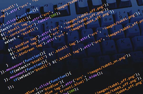 プログラミングコード画面